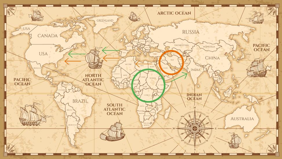 cantaloupe-origin-migration-map