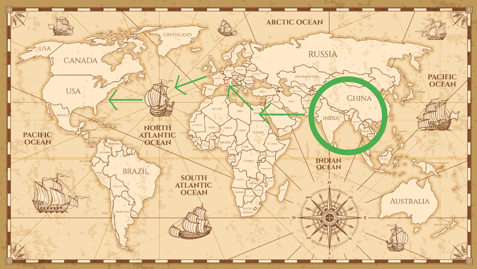 eggplant-origin-migration-map