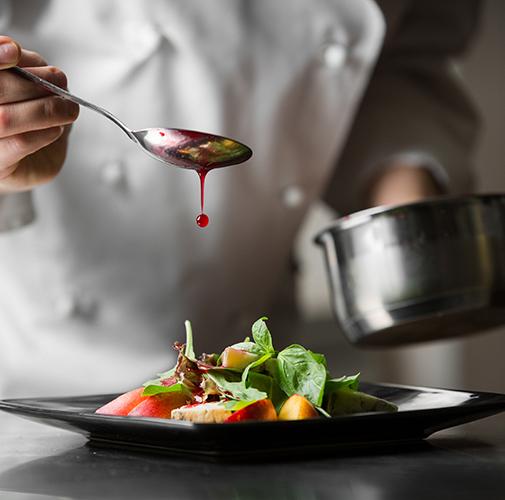 Garnishing-a-dish